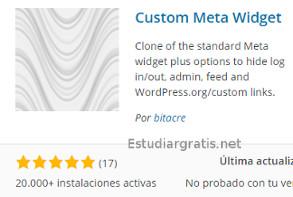 sacar el link wordpress de meta